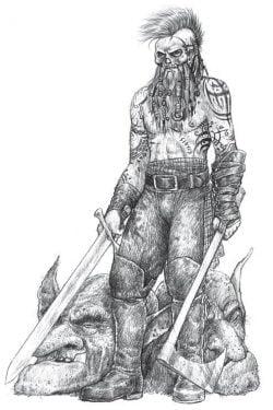 Ilustración profesión matador ZweihanderRPG