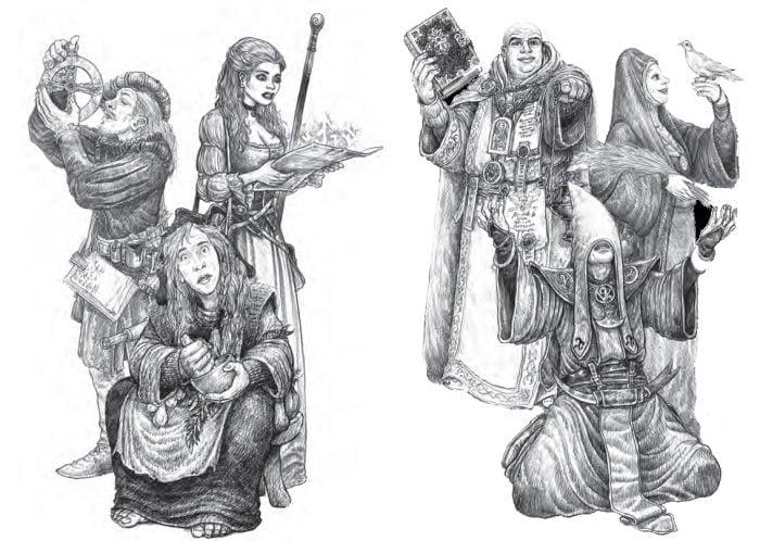 Practicantes de la magia arcana o divina en ZweihanderRPG
