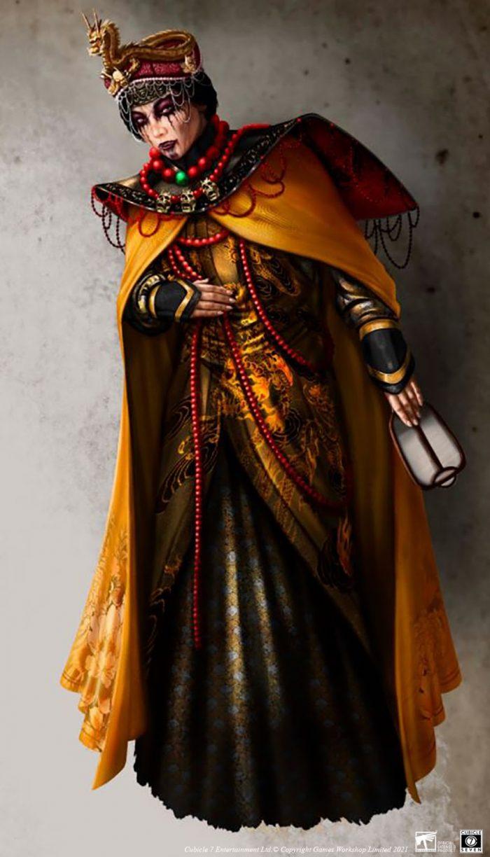 Dama de la Comandancia, Venerada embajadora de Weijin en el Palacio de Altdorf – Ilustración de Yugin Maffioli